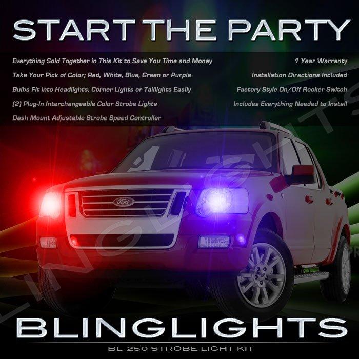 Ford Sport Trac Strobes Police Light Kit for Headlamps Headlights Head Lamps Strobe Lights