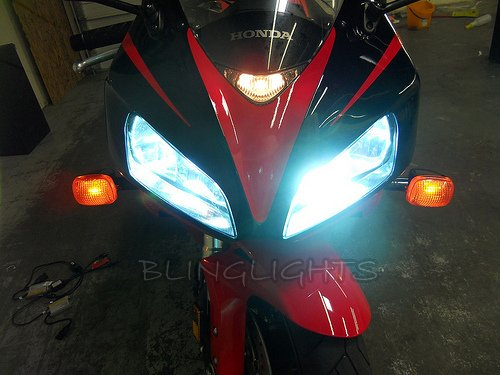 Honda CBR600RR Bright White Low High Light Bulbs for Headlamps Headlights Head Lamps Lights
