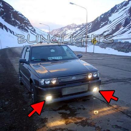 Fiat Innocenti Mille Way Clip Xenon Fog Lamps Driving Lights Foglamps Foglights Kit