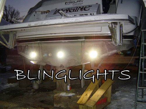 Trojan Yacht LED Underwater Aqua Bronze Lights Lamp Marine Under Fish Boat Custom Thru Hull Lighting