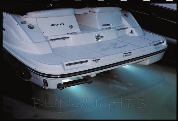 Custom Boat Headlights : Sea ray boat led underwater aqua lamp marine under fish