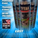 12x Tytan RV Pro Black Rubber Flex Foam Seal Spray Sealant Can Selena USA Indoor Outdoor Repair 24oz