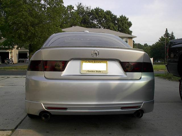 2004-2008 Acura TSX Tinted Smoked Taillamps Taillights Overlays Film Protection