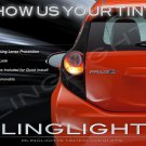 Toyota Prius C Tinted Smoked Protection Overlays Film for Taillamps Taillights Tail Lamps Lights