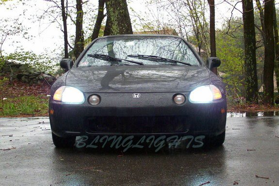 Honda Del Sol Bright White Light Bulbs Upgrade for Headlamps Headlights Head Lamps Lights