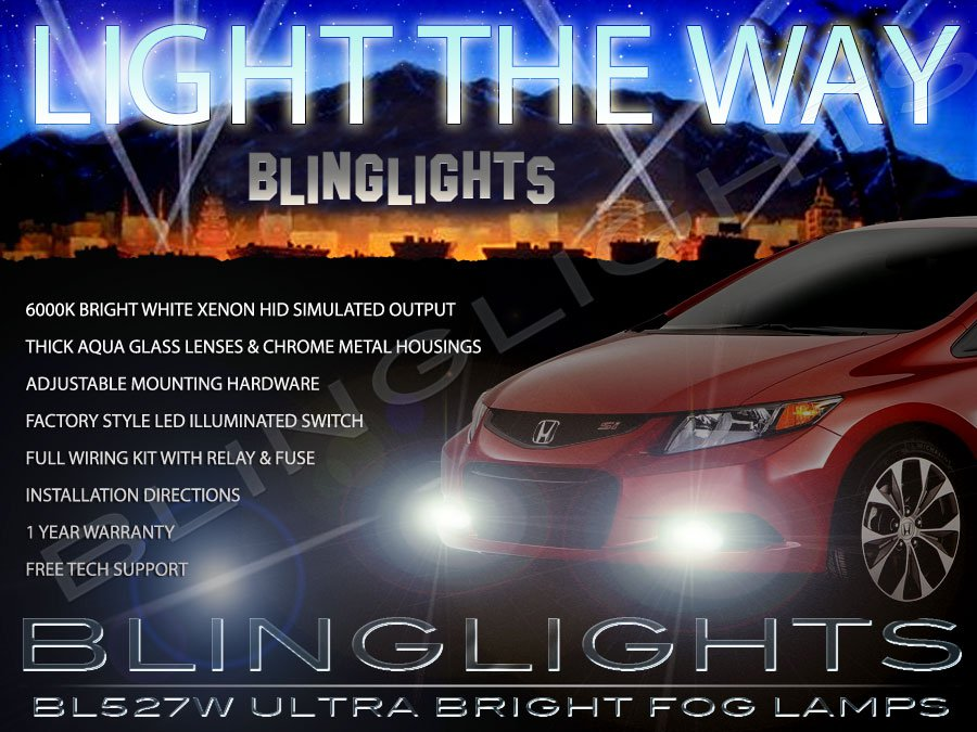 2012 2013 2014 2015 Honda Civic Fog Lamps Driving Lights Kit