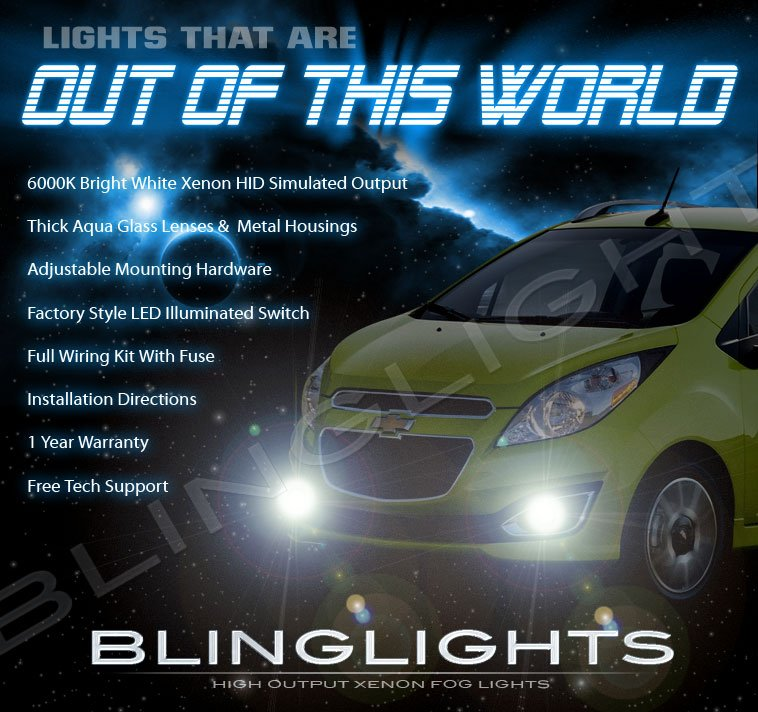 2013 2014 2015 Chevrolet Spark Fog Lamps Driving Lights Kit Chevy Xenon Set