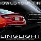 2012 2013 2014 2015 Honda Civic Tinted Taillamp Covers Taillight Overlays Murdered Out