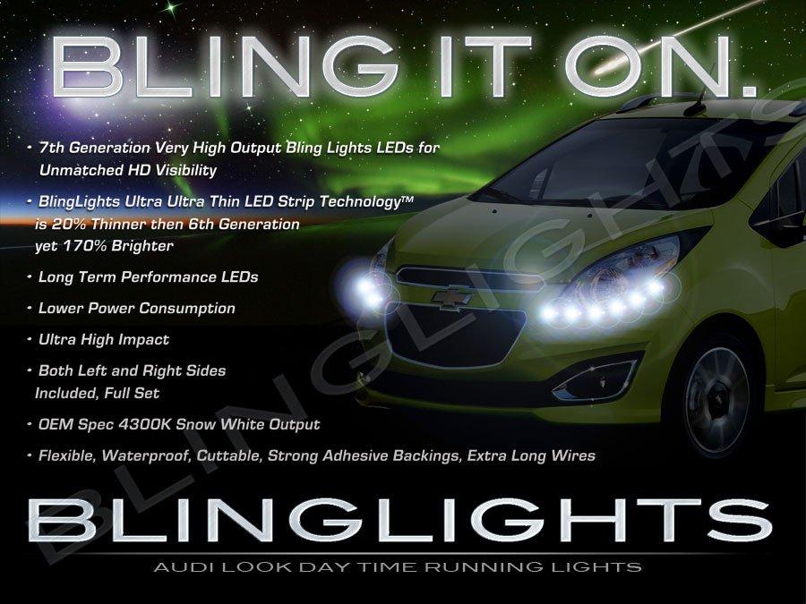 Daewoo Matiz LED DRL Head Light Strips Day Time Running Lamp Kit M100 M150 M200 M250 M300