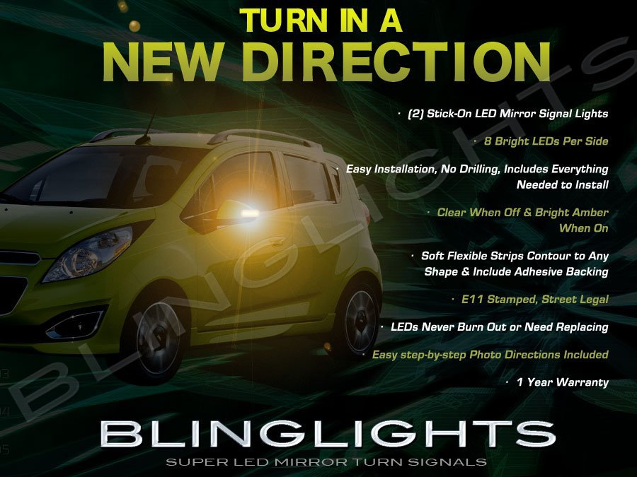 Chevrolet Beat LED Mirror Turnsignal Lights Blinker Lamp Signalers