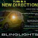 Holden Barina Spark LED Side Mirrors Turnsignals Lights Accents Turn Signals Lamps Signalers