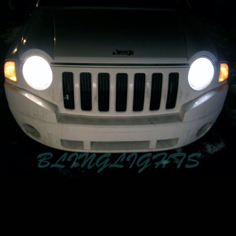Jeep Compass Bright White Replacement Light Bulbs for Headlamps Headlights Head Lamps Lights Upgrade