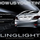 2012-2015 Hyundai Accent Tinted Tail Lamp Light Overlays Kit Smoked Film Protection