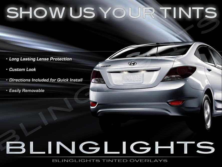 Hyundai Grand Avega Tinted Smoked Tail Lamp Light Film Overlays Protection