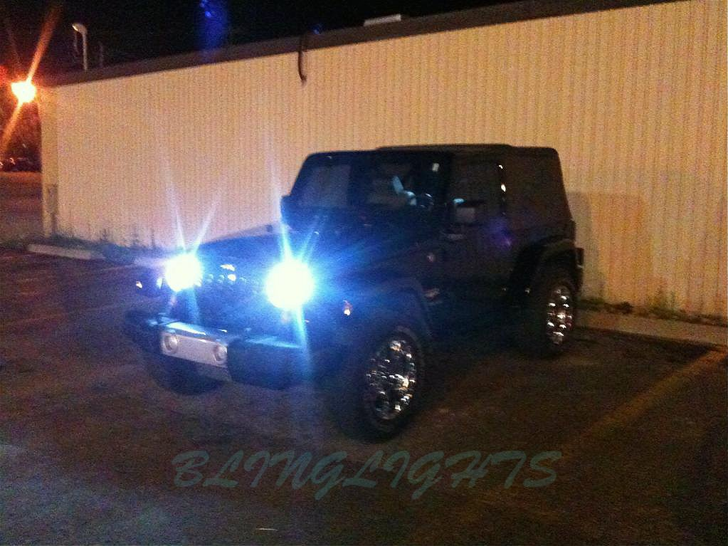 2007 2008 2009 2010 2011 2012 Jeep Wrangler JK Xenon 55watt Headlamps Headlights HID Conversion Kit