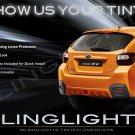 Subaru XV Crosstrek Tinted Smoked Taillamps Taillights Overlays Film Protection