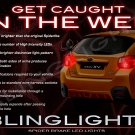 Subaru XV Crosstrek Custom LED Light Bulbs for Taillamps Taillights Tail Lamps Upgrade Replacement