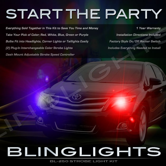 Toyota Venza Emergency Strobe Light Kit for Headlamps Headlights Turnsignals Taillamps Taillights