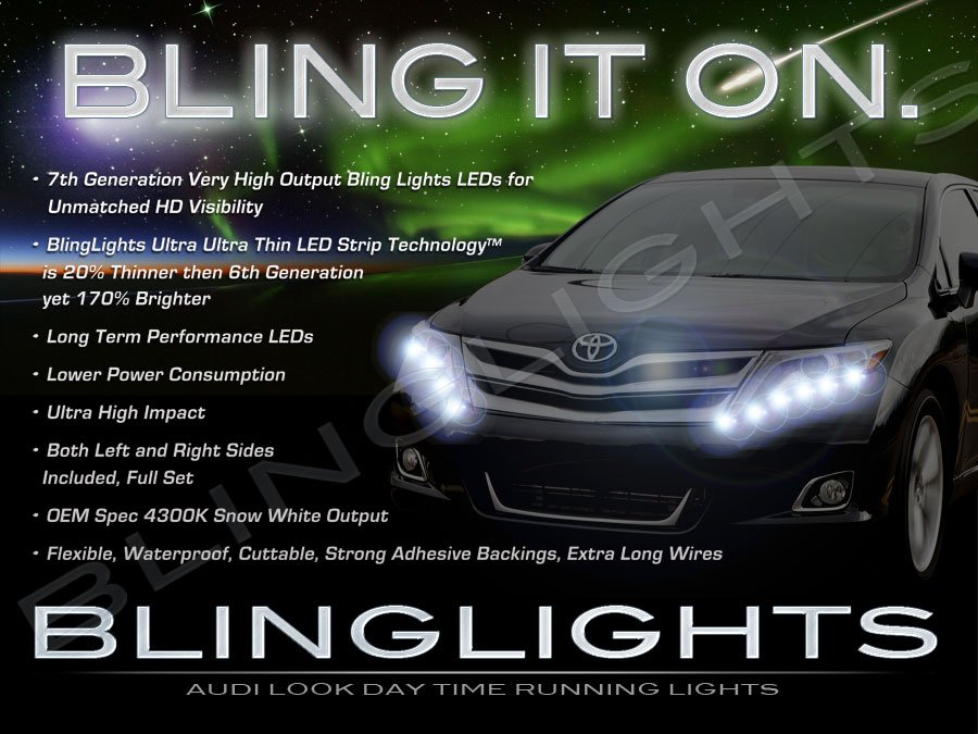 LED DRL Head Light Strips for 2013 2014 2015 2016 2017 Toyota Venza