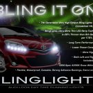 Toyota Vios LED DRL Light Strips for Headlamps Headlights Day Time Running Lamps