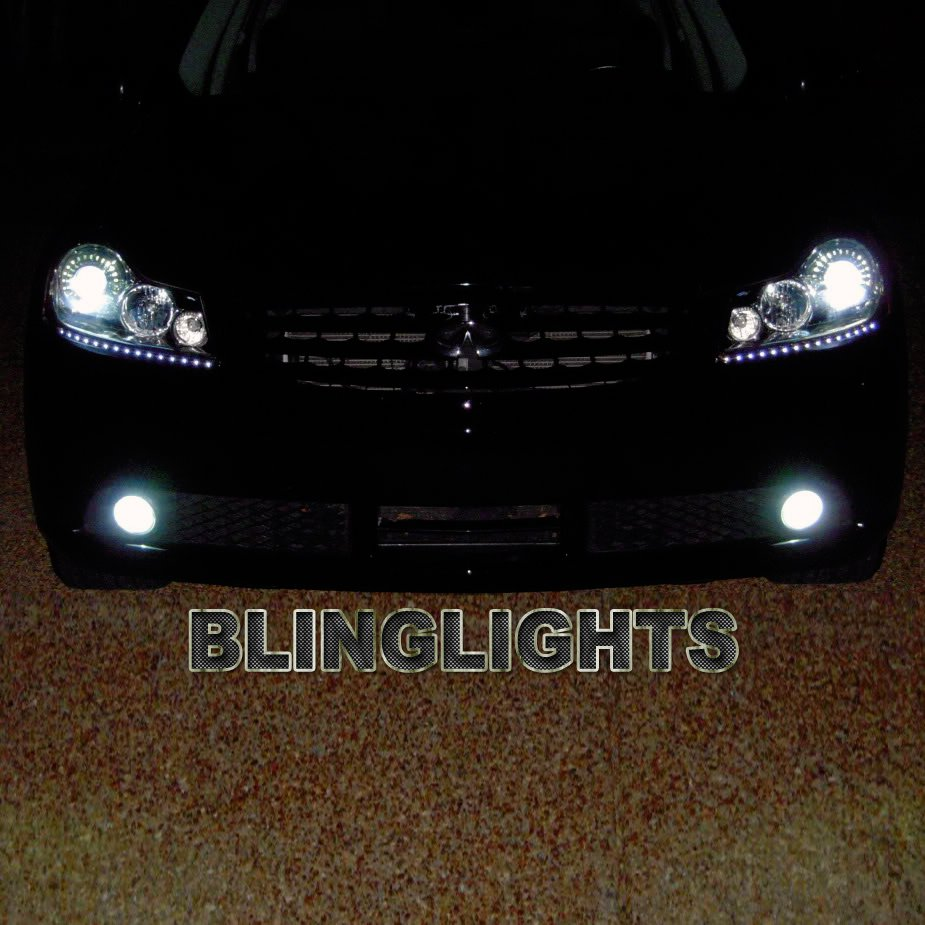 Infiniti M35h M Hybrid LED DRL Light Strips for Headlamps Headlights Day Time Running Lamps Lights
