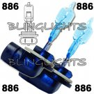 2x 886 White Blue Light Bulbs Set 50 Watt Fog Lamps Replacements