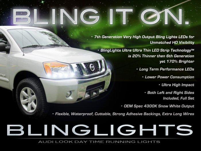 Nissan NV Cargo Passenger LED Strip Lights Headlamps Headlights DRLs NV200 NV1500 NV2500 NV3500 HD