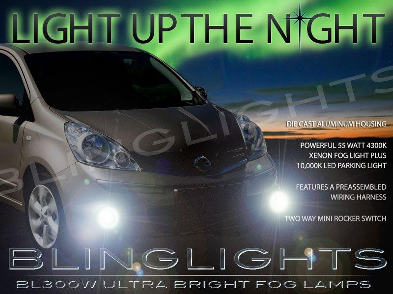 2005-2013 Nissan Note Xenon Fog Lamps Driving Lights Kit
