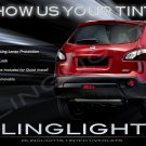 Nissan Dualis Tinted Smoked Taillamps Taillights Tail Lights Lamps Protection Overlays Film