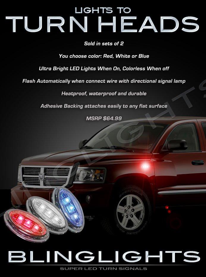 Dodge Dakota LED Side Accent Turnsignals Lamps Quarter Panel Turn Signals Markers Lights Signalers