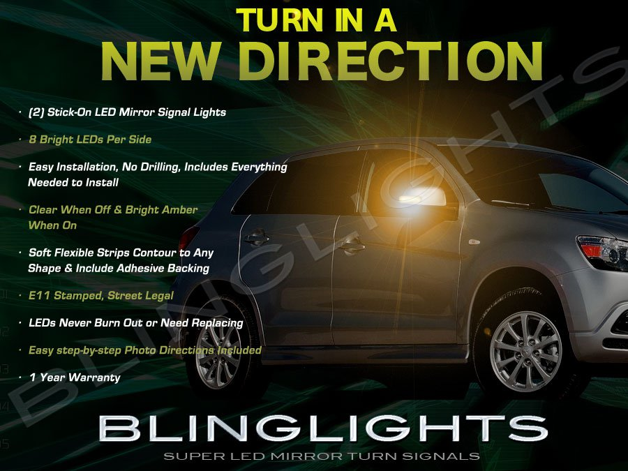 Mitsubishi Outlander Sport LED Side View Mirror LED Add-on Turnsignals