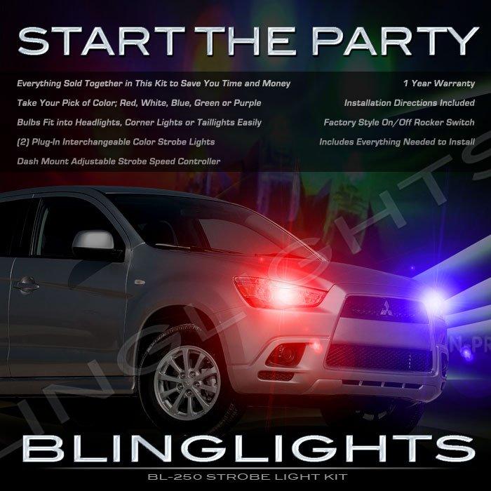 Mitsubishi ASX Strobe Light Kit for Headlamps Headlights Head Lamps Lights Strobes Police