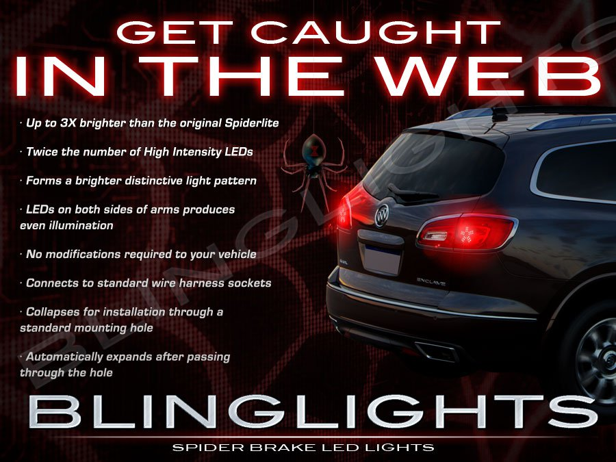 Buick Enclave Custom LED Light Bulbs for Taillamps Taillights Tail Lamps Lights Upgrade