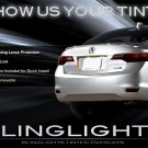 Acura ILX Tinted Smoked Taillamps Taillights Overlays Film Protection