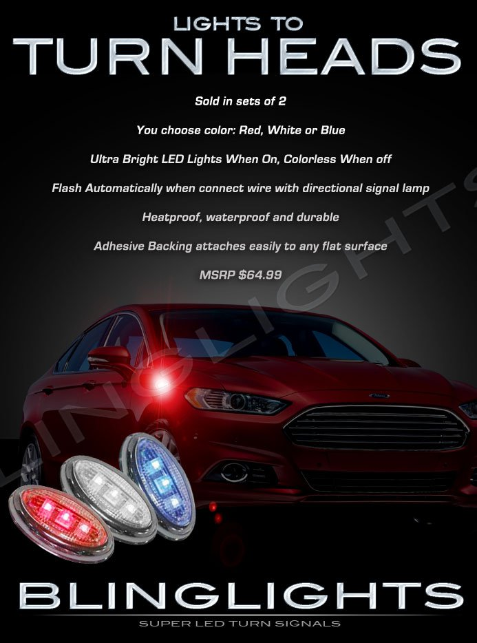 Ford Mondeo LED Side Markers Turnsignals Lights Accents Turn Signals Lamps Signalers