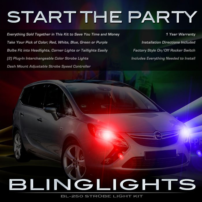 Chevrolet Chevy Zafira Strobe Light Kit for Headlamps Headlights Head Lamps Lights Strobes Police