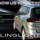 Opel Zafira Tourer Tinted Smoked Taillamps Taillights Overlays Protection Film