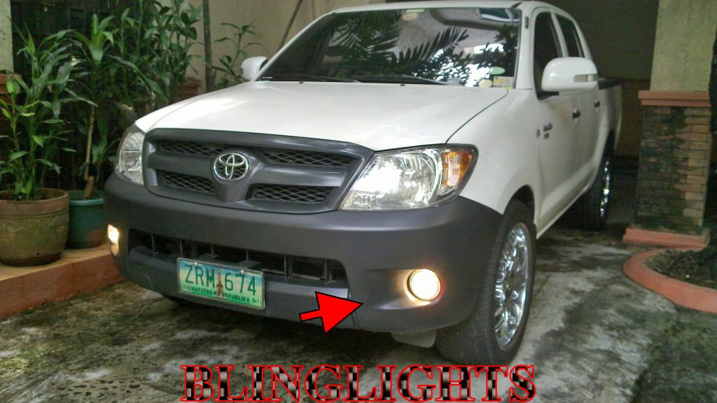 2005 2006 2007 2008 2009 2010 2011 Toyota HiLux Halo Fog Lamps Angel Eye Driving Lights Foglamps Kit