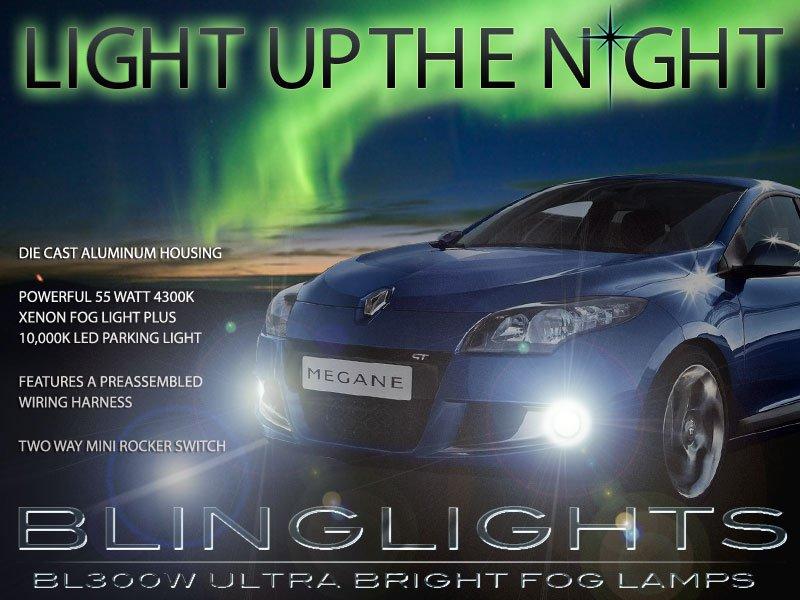 Renault Mégane Berline Xenon Fog Lamps Driving Lights Foglamps Foglights Drivinglights Kit