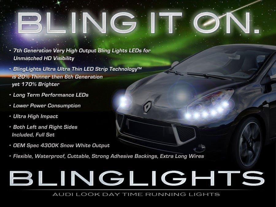 Renault Wind LED DRL Light Strips Day Time Running Lamps Headlamps Headlights Head Lights Strip Set