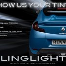 Renault Wind Tinted Smoked Taillamps Taillights Overlays Film Taillamps Taillights Protection
