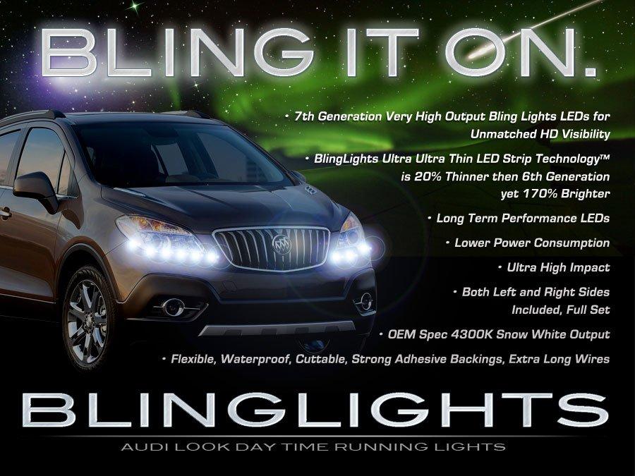 Opel Mokka LED DRL Light Strips Day Time Running Lamps for Headlamps Headlights Strip Lights