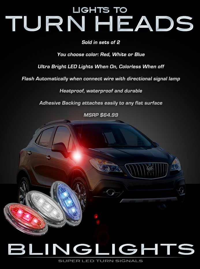 Buick Encore LED Side Markers Turnsignals Lights Lamps Accent Turn Signalers Set