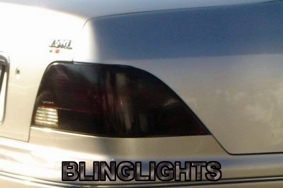 1996 1997 1998 Acura RL Tinted Smoked Tail Lamps Lights Overlays Film Protection