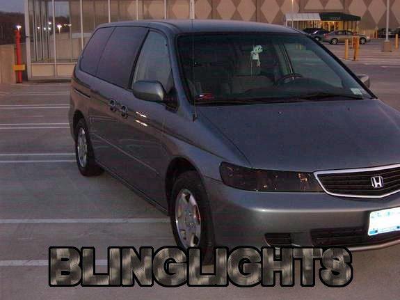 Honda Odyssey Tinted Head Lamp Light Overlays Kit Smoked Film Protection