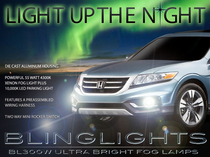 2013 2014 Honda Crosstour Xenon Foglamps Drivinglights Fog Lamps Driving Lights Kit