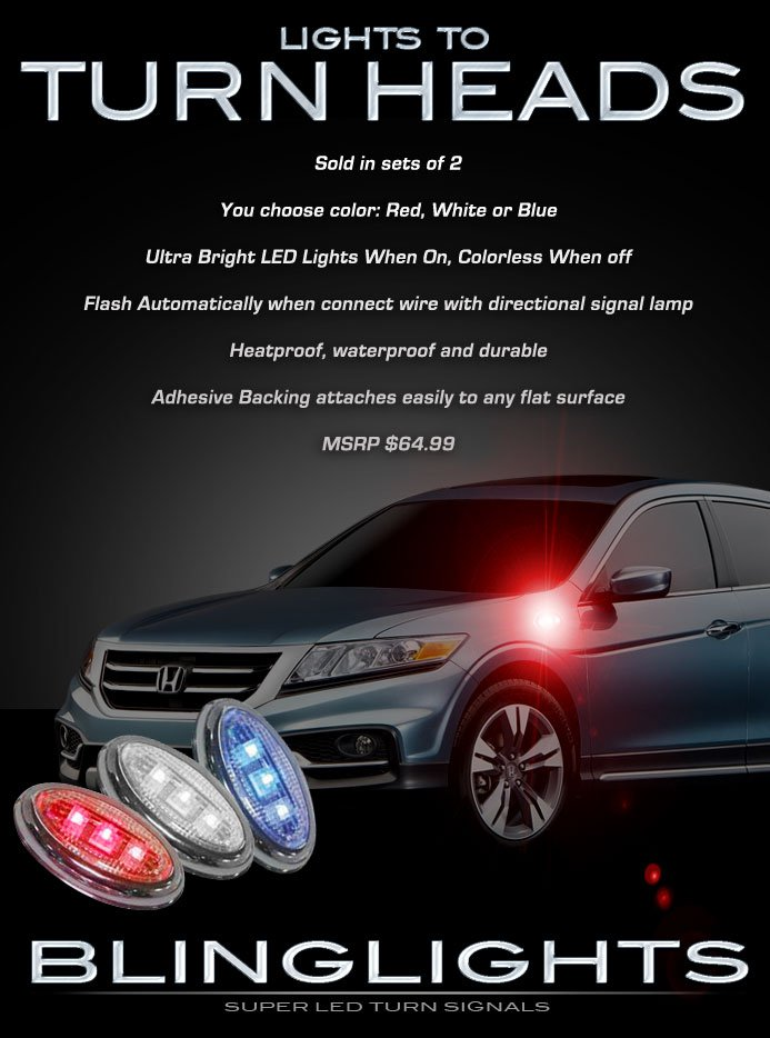 Honda Crosstour LED Turn Signals Lights Signalers Lamps Accents Side Markers Set