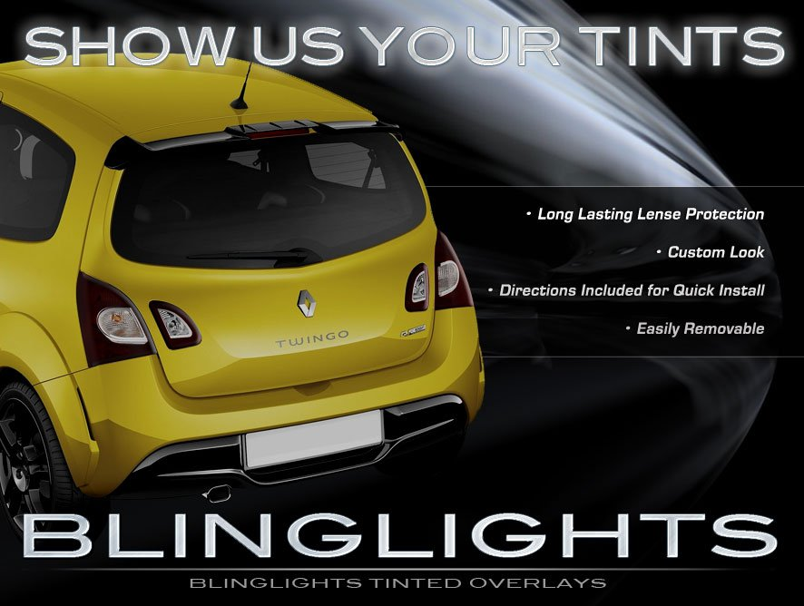 Renault Twingo Tinted Smoked Taillamp Taillight Overlays Film Protection