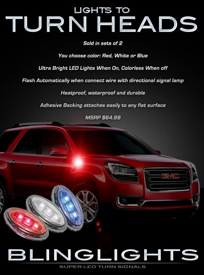 GMC Acadia LED Side Turnsignal Light Turn Signaler Lamp Accent Marker Set