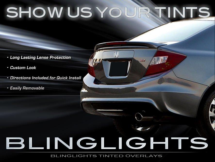 2012 Honda Civic Si Smoked Tail Light Covers Lamp Fb Tint
